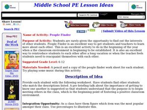 People Finder Lesson Plan