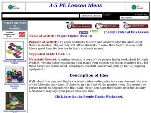 People Finder (Part II) Lesson Plan