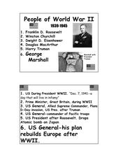 People of World War II Lesson Plan