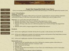 People That Changed the World: Cesar Chavez Lesson Plan
