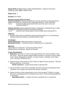 People Work Lesson Plan