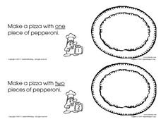 Pepperoni Pizza Booklet Worksheet