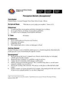 Perception and Beliefs Lesson Plan