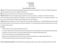 Percussion Family Lesson Plan Lesson Plan