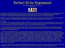 Perfect 10 for Expression Lesson Plan