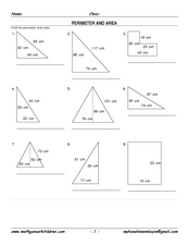 Perimeter and Area 6 Worksheet