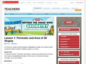 Perimeter and Area of 2D Shapes Lesson Plan