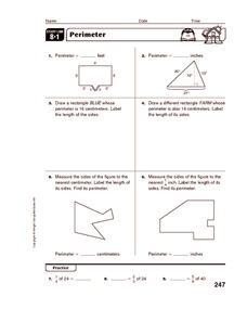 Perimeter and area Worksheet