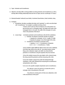 Circumference worksheets 8th grade
