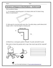 perimeter of polygons in word problems 2nd 4th grade worksheet lesson planet. Black Bedroom Furniture Sets. Home Design Ideas