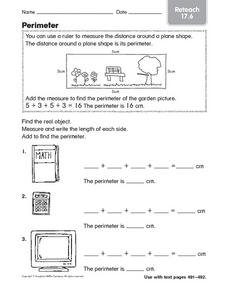 Perimeter: Reteach Worksheet