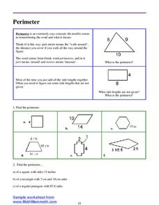 Perimeter Worksheet