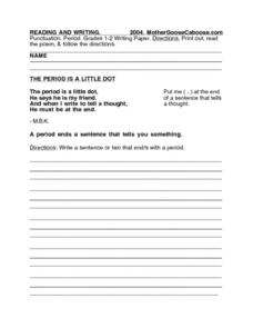 Period Worksheet