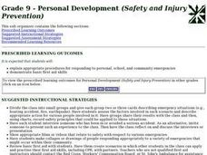Personal Development (Safety and Injury Prevention) Lesson Plan