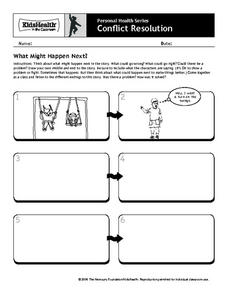 Personal Health: Conflict Resolution Worksheet