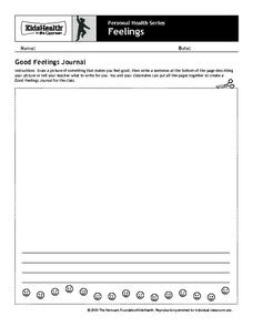 Personal Health: Feelings Worksheet