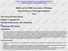 Personal Poetry Books Lesson Plan