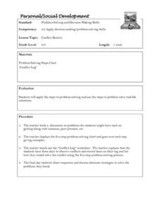 Personal/Social Development:  Conflict Busters Lesson Plan