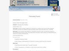Personality Poems Lesson Plan