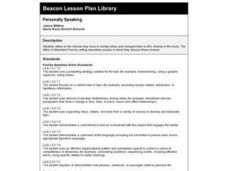 Personally Speaking Lesson Plan