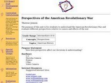 Perspectives of the American Revolutionary War Lesson Plan