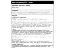 Persuasion and Use of Language Lesson Plan