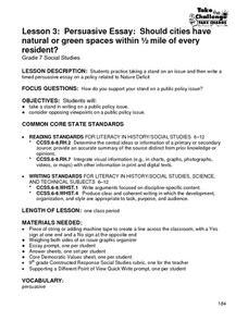 ap argument essay lesson plans