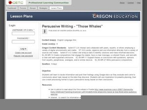 writing persuasive speeches lesson plans To independently analyze a persuasive speech and write their own persuasive texts for this reason, the lesson speech analysis r persuasive writing plan.