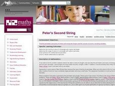Peter's Second String Lesson Plan