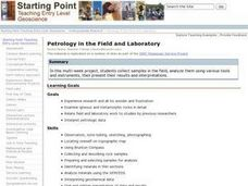 Petrology in the Field and Laboratory Lesson Plan