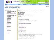 Pets:  Stuffed Animal Day Lesson Plan