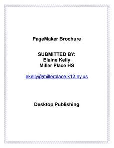 Pge Maker Brochure Lesson Plan