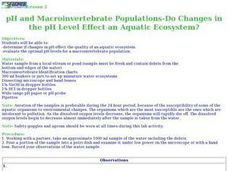 pH and Macroinvertebrate Populations - Do Changes in the pH Level Effect an Aquatic Ecosystem? Lesson Plan