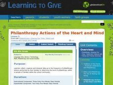 Philanthropy Actions of the Heart and Mind Lesson Plan