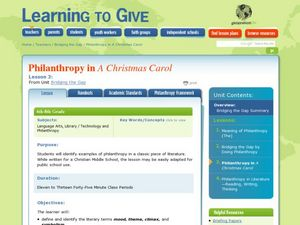Philanthropy in A Christmas Carol Lesson Plan