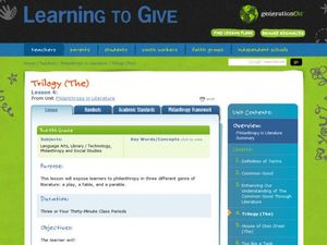 Philanthropy in Literature Lesson Plan