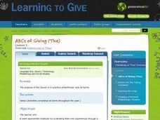 "Philanthropy is ""Phun"" Lesson 1:  ABC's of Giving Lesson Plan"