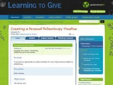 "Philanthropy is ""phun"" Lesson 4:  Creating a Personal Philanthropy Timeline Lesson Plan"