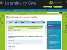 Philanthropy, Literature and You Lesson Plan