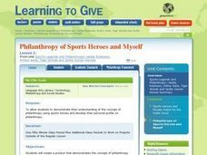 Philanthropy of Sports Heroes and Myself Lesson Plan
