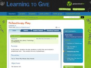 Philanthropy Play Lesson Plan