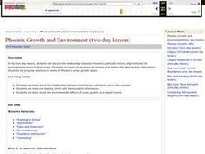 Phoenix Growth and Environment Lesson Plan