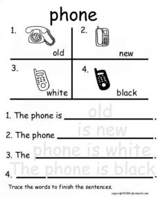 Phone Adjectives Worksheet