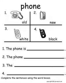 Phone (sentence completion) Worksheet