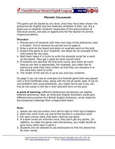 Phonetic Crosswords Lesson Plan