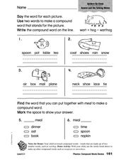 Phonics: Compound Word Review Worksheet