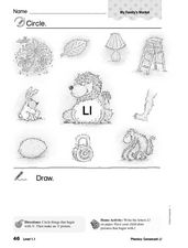 Phonics: Consonant Ll Worksheet