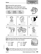 Phonics: Consonants gh, ph, lf /f/ Review Worksheet