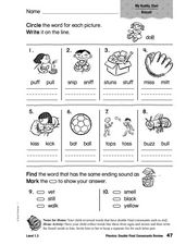 Phonics: Double Final Consonants Review Worksheet