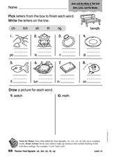 phonics final digraphs ch tch sh th ng 1st 2nd grade worksheet lesson planet. Black Bedroom Furniture Sets. Home Design Ideas